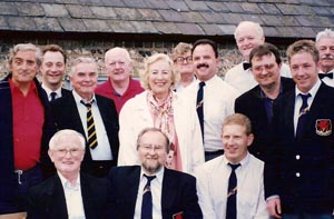 With Dame Vera Lynn, Ditchling, 1995