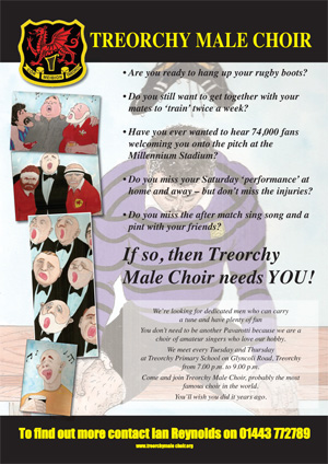 Treorchy Choir Promotion Poster
