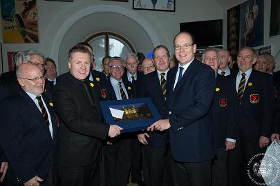 A presentation to Prince Albert II
