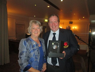 Chairman David Bebb presented Honorary Lady Membership to Dame Mary Perkins